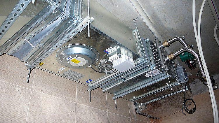 Установка калориферов приточную вентиляцию