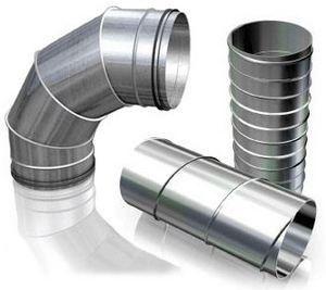 Фото: Металлические трубы для вентиляции
