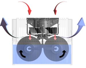 Фото: Функцию фильтра в очистителе воздуха выполняет резервуар с жидкостью