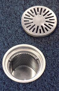 Воздухораспределитель напольный с пылесборником