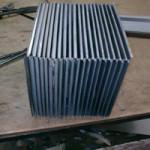 Листы металла для теплообменника в сборе