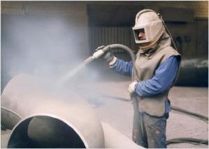 Защитный костюм работника покрасочного цеха