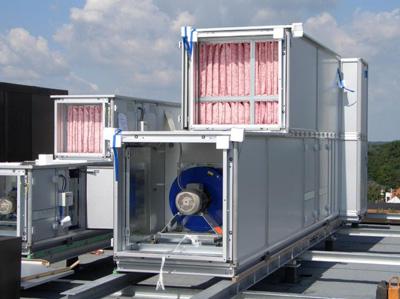 Централизованная вентиляция - пример установки на крыше