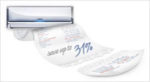 Samsung AQ09EWG имеет мощность на охлаждение 2.8 кВт