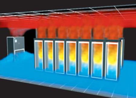 Распределение теплоты в замкнутом помещении при использовании шкафного кондиционера