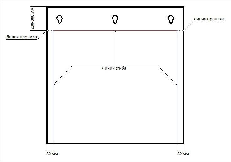 Схема экрана для настенного кондиционера, который можно изготовить своими руками