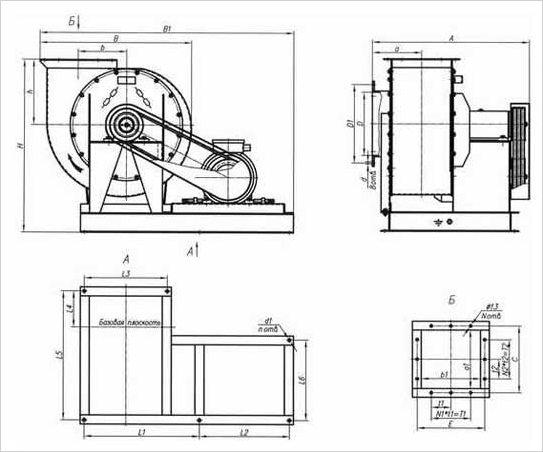 Конструкция пылевого вентилятора ЦП