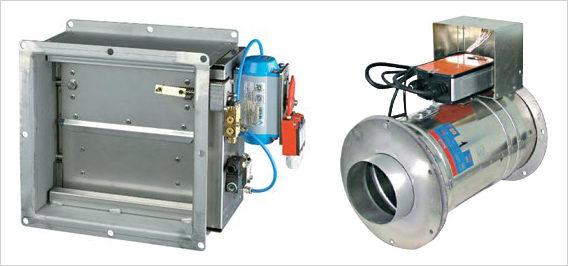 В зависимости от формы воздуховода используются устройства прямоугольного или круглого сечения