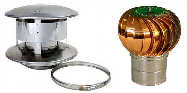 Дефлектор и ротационная турбина помогут увеличить тягу в дымоходе