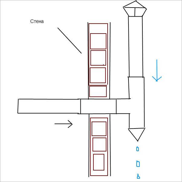 Отвод конденсата в трубе вентиляции частного дома