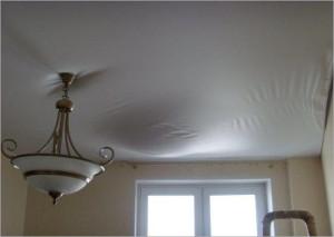 Провисание потолочного покрытия