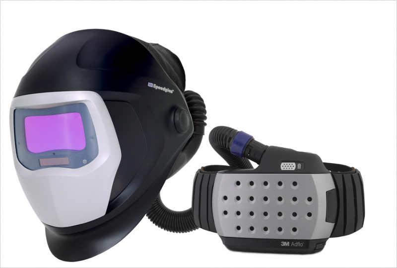 Маска сварщика с принудительной системой вентиляции