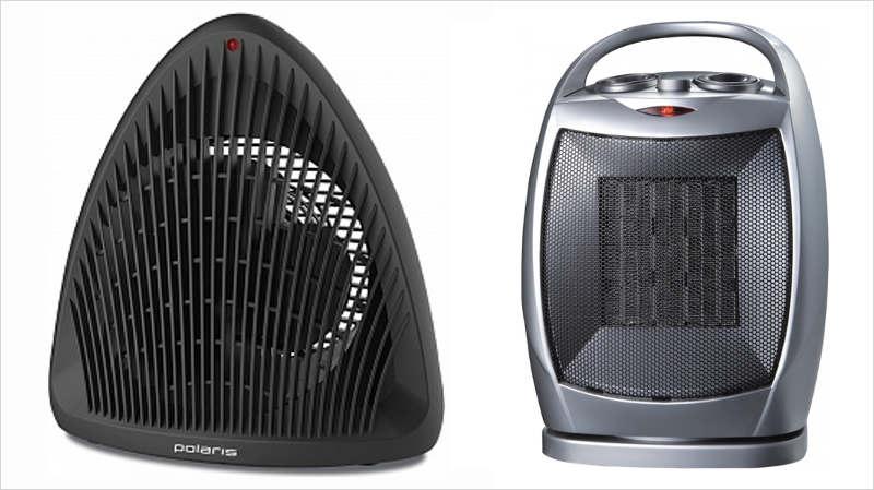 Слева: спиральная, справа: керамическая модель вентилятора