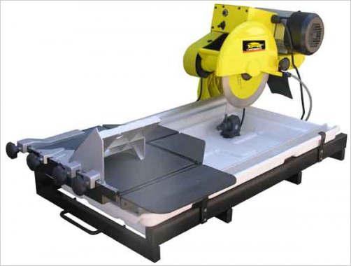 Электрический плиткорез для облицовочной плиты вентилируемого фасада