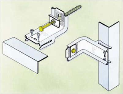 Кронштейны для крепления профиля вентилируемого фасада