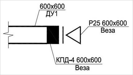 Схема клапана в разрезе