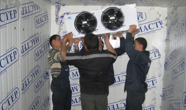 Этапы монтажа воздухоохладителя