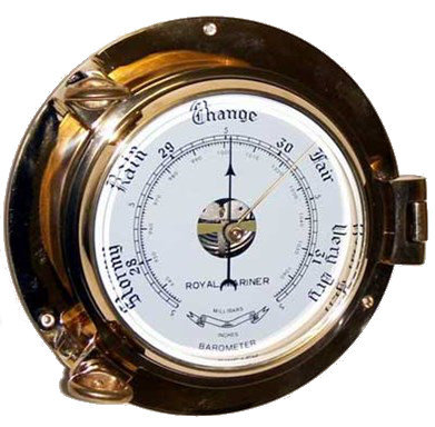 Барометр применяется для измерения атмосферного давления