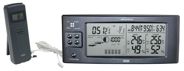Внешний датчик регистрирует температуру в интервале от -50 С° до + 70 С°