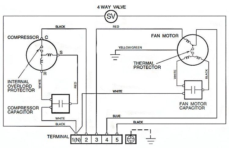 Электросхема испарительного блока сплит-системы