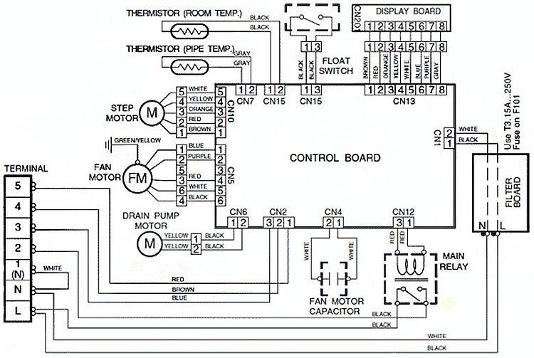 Электросхема внутреннего блока сплит-системы