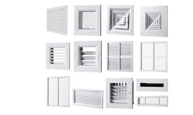 Виды наружных вентиляционных решеток