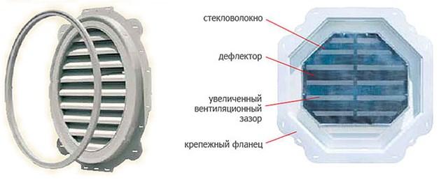 Изделия из стали: справа внешняя сторона, слева - внутренняя