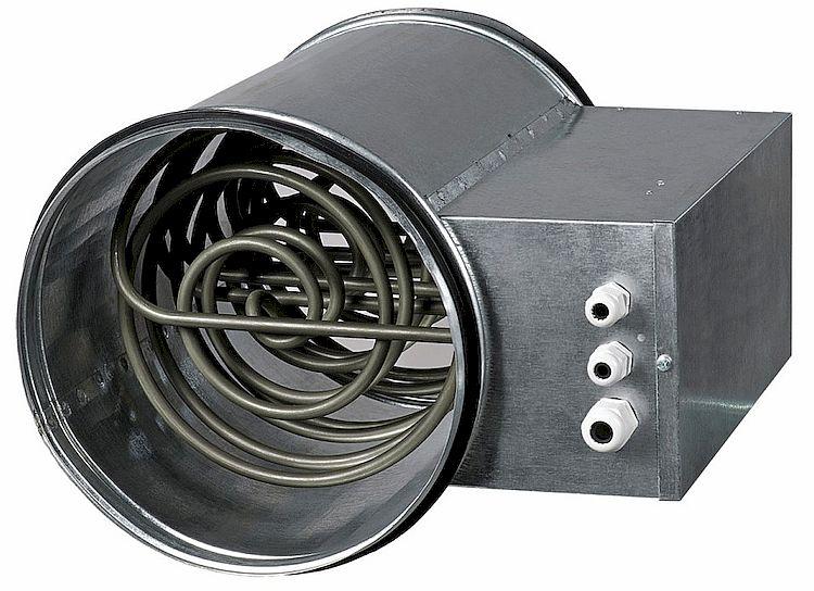 Фото: Электрические канальные нагреватели в системе вентиляции помещений