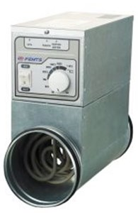 Канальные электронагреватели с встроенным блоком управления