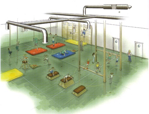 Спортивный зал в учебном учреждении