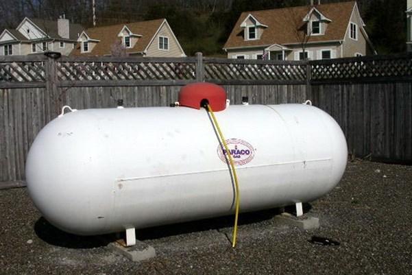 Газгольдер на участке - наземное расположение