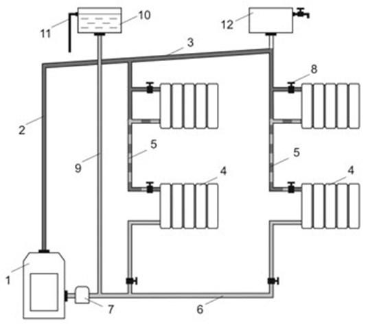 Вертикальная схема отопления
