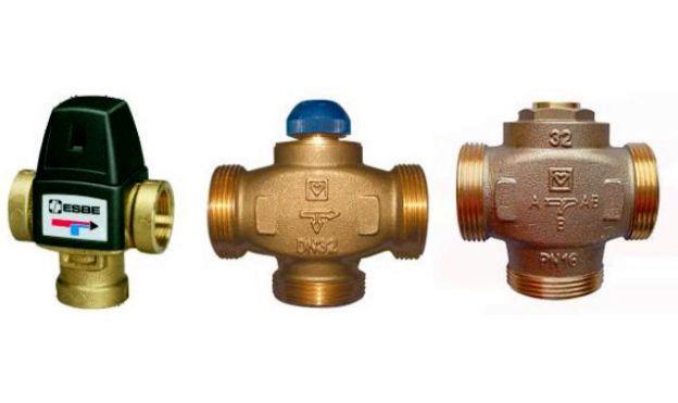 Фото: Клапаны на систему отопления