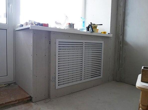Закрытие радиатора экраном