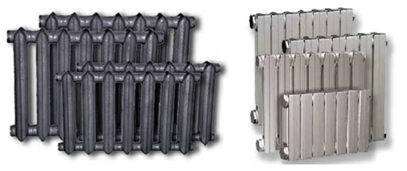 Радиаторы старого и нового образца