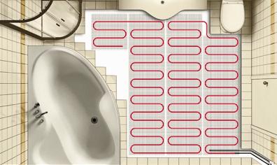 Выбор теплого пола для ванной комнаты