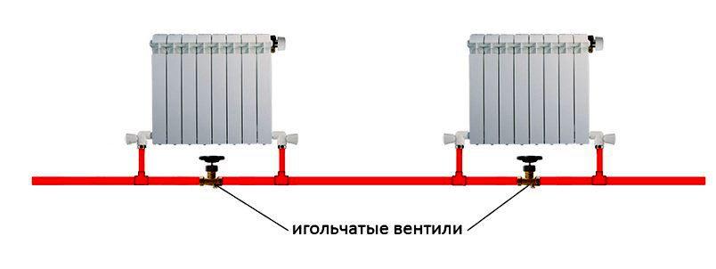 Игольчатые вентили необходимы для балансировки однотрубной системы