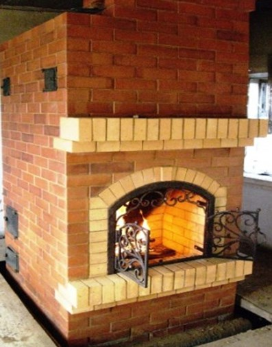 Печь-камин для приготовления и отопления