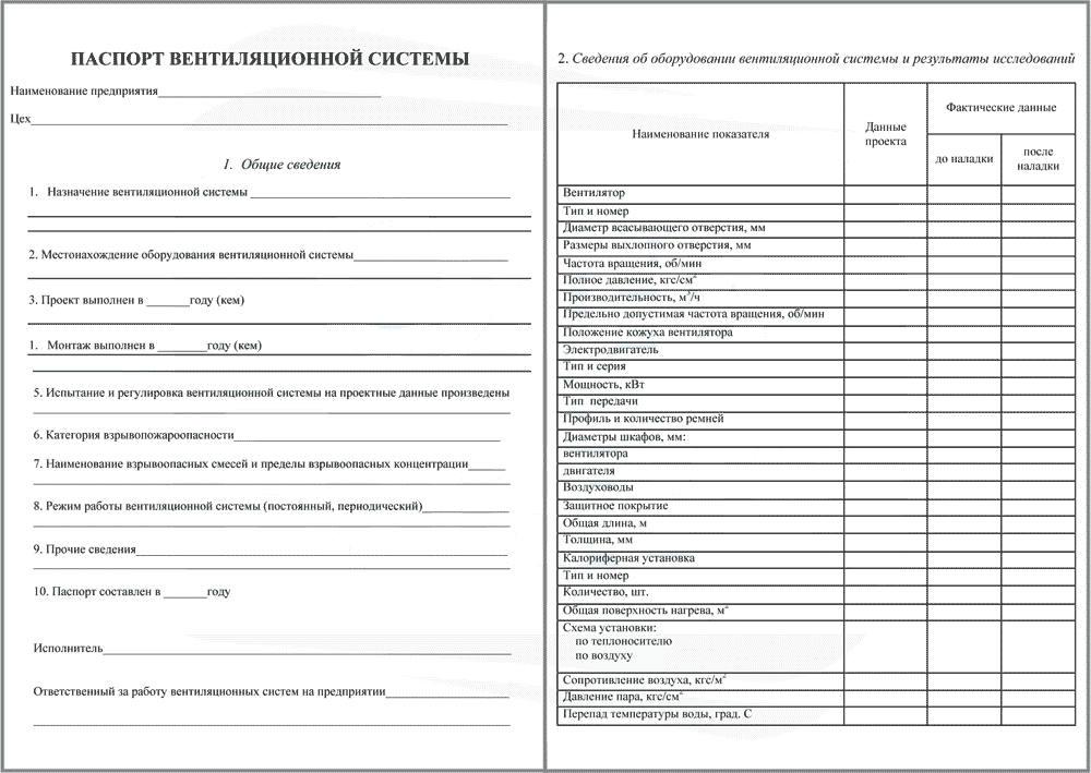 Пример бланка паспорта