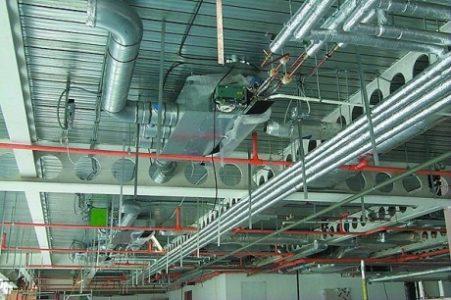 Воздушное отопление предприятия