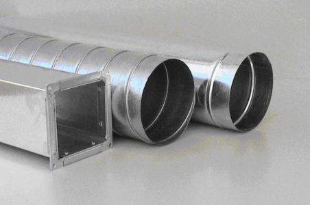 Формы горизонтальных воздуховодов для естественной вентиляции