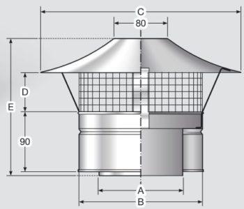 Устройство дефлектора с защитной сеткой