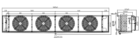 Как установить охладитель, чертеж
