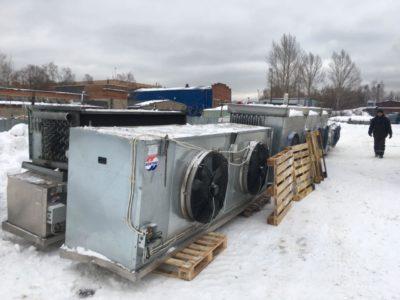 Монтаж аммиачного воздухоохладителя
