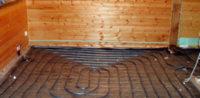 Водяной теплый пол в деревянном доме под стяжку от печи: