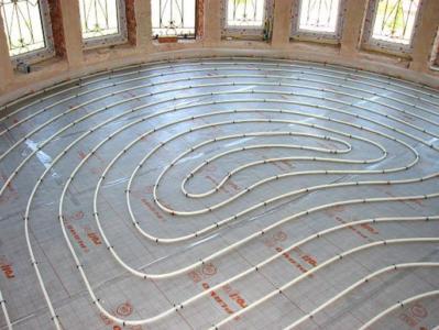 Теплый пол из металлопластиковых труб.