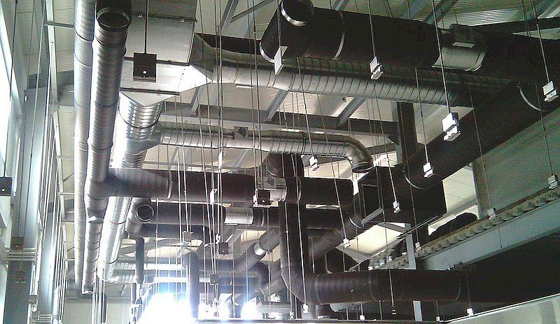 Воздухообмен на промышленной площадке