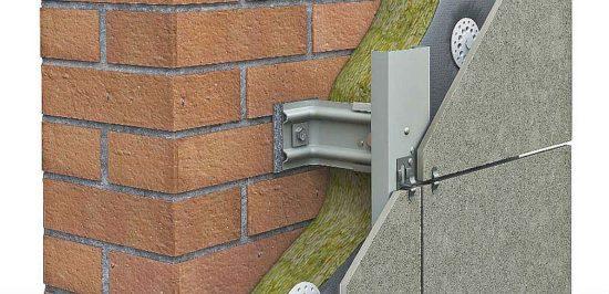 Фото: Технология монтажа вентилируемого фасада из керамогранита