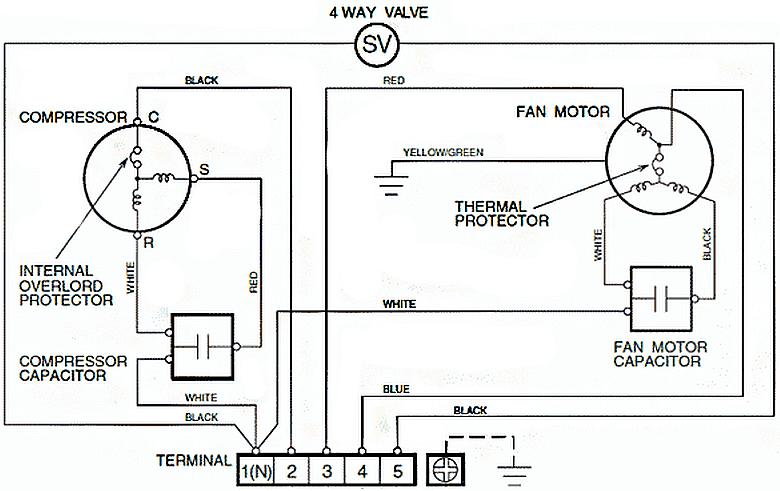 Электрическая схема наружного модуля