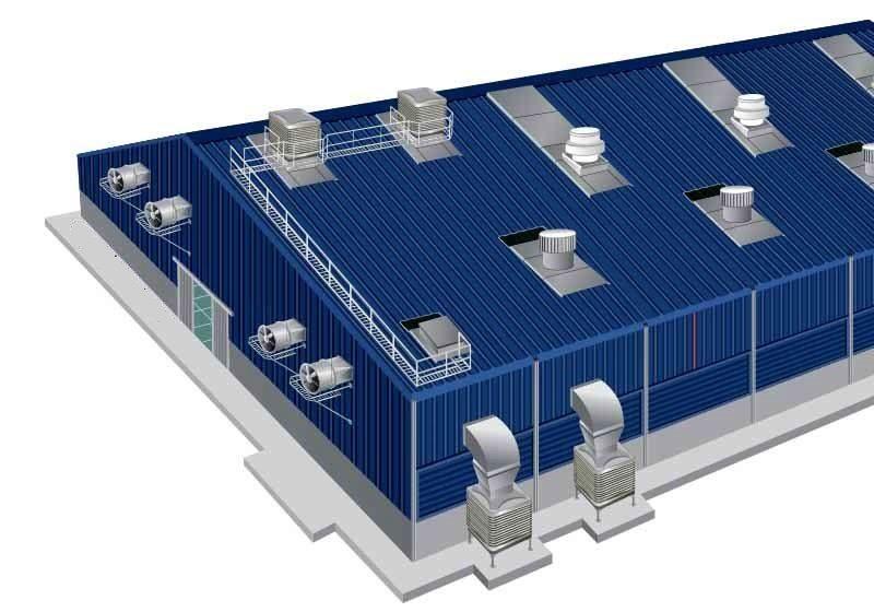 Фото: Система вентиляции производственного помещения